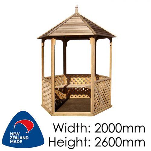 Garden Sheds NZ pinehaven-waihi-timber-gazebo-500x500