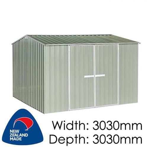 Garden Sheds NZ Galvo-3030-Hazy-Grey-2-500x500
