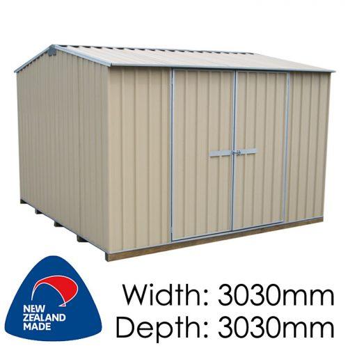 Garden Sheds NZ Galvo-3030-Desertsand-1-500x500