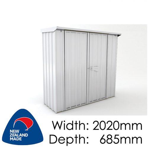 Garden Sheds NZ Smart-Store-SM2007-Zinc-500x500