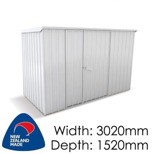 Garden Sheds NZ Smart-Store-SM3015-Zinc-500x500