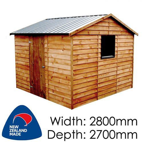 Garden Sheds NZ pinehaven-dunstan-timber-shed-500x500