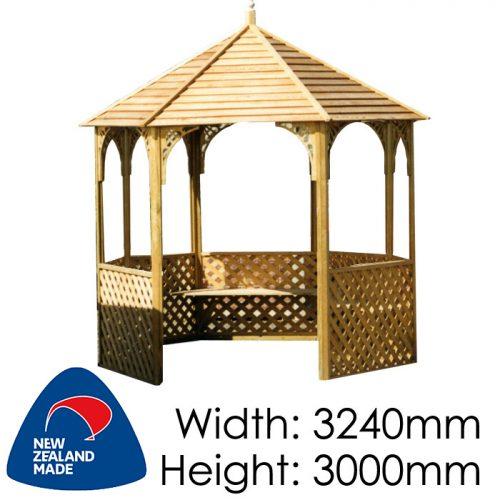 Garden Sheds NZ pinehaven-waimarama-timber-gazebo-500x500