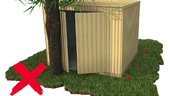 Garden Sheds NZ door-clearance
